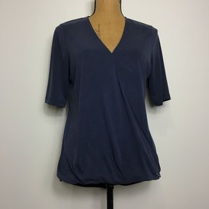 Banana Republic V-neck Wrap-front Top Blouse Sz. M